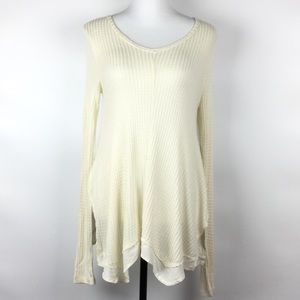 Altar'd State Waffle Knit Sweater Top Size Medium